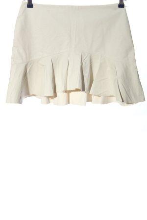 Zara Falda de cuero de imitación blanco look casual