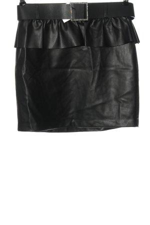 Zara Rok van imitatieleder zwart casual uitstraling