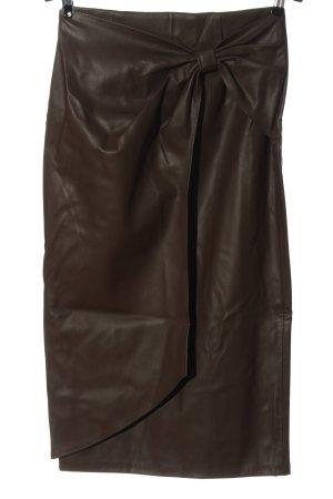Zara Rok van imitatieleder bruin casual uitstraling
