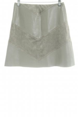 Zara Jupe en cuir synthétique gris vert motif graphique style décontracté