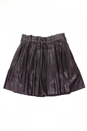 Zara Kunstlederrock Größe L schwarz aus Polyester