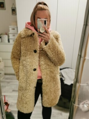 Zara Fake Fur Jacket sand brown