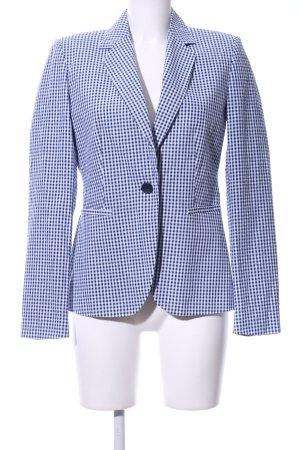 Zara Kurz-Blazer blau-weiß Allover-Druck Business-Look