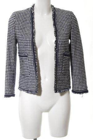 Zara Kurz-Blazer schwarz-weiß abstraktes Muster Business-Look