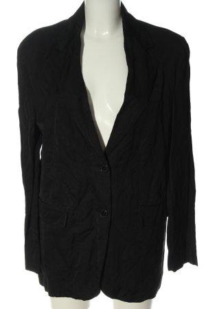 Zara Klassischer Blazer schwarz-silberfarben Casual-Look