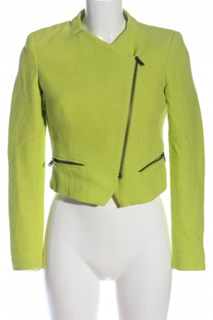 Zara Kurz-Blazer grün Casual-Look