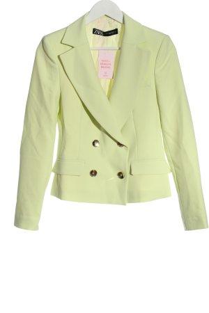Zara Kurz-Blazer grün Business-Look