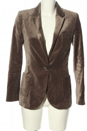 Zara Kurz-Blazer braun Business-Look