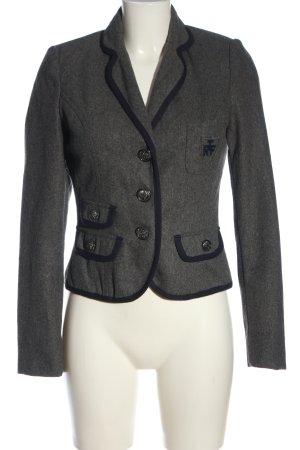 Zara Blazer court gris clair-noir moucheté style décontracté