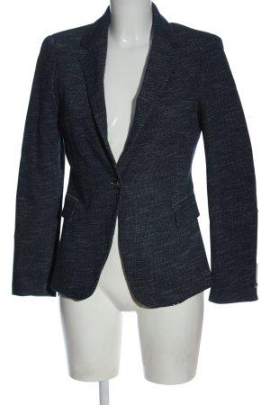 Zara Kurz-Blazer blau meliert Business-Look
