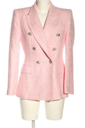 Zara Blazer corto rosa puntinato stile casual