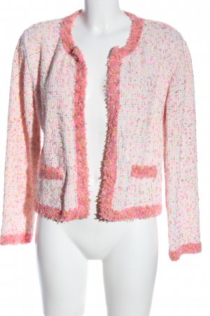 Zara Kurz-Blazer pink meliert Casual-Look