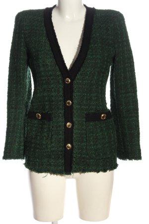 Zara Blazer Tweed verde-negro elegante