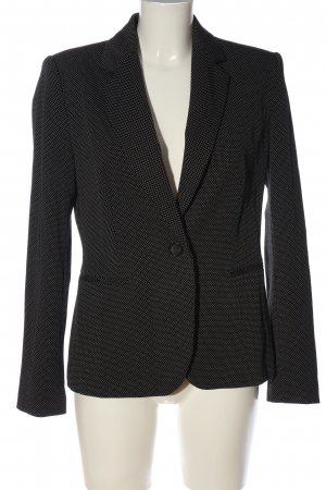 Zara Kurz-Blazer schwarz-weiß Punktemuster Casual-Look