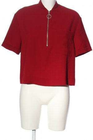 Zara Kurzarm-Bluse rot Business-Look
