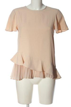 Zara Kurzarm-Bluse pink Casual-Look