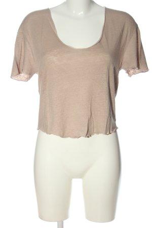 Zara T-Shirt braun meliert Casual-Look