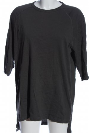 Zara Oversized Shirt hellgrau Casual-Look