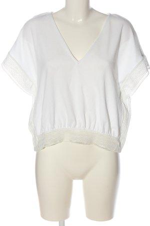 Zara Short Sleeved Blouse white casual look