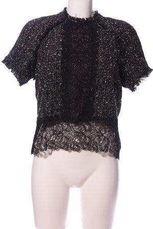 Zara Camicetta a maniche corte nero elegante