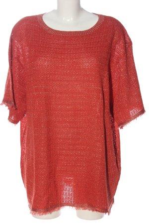 Zara Kurzarm-Bluse rot Casual-Look