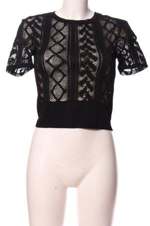 Zara Camicia maglia nero modello misto stile casual