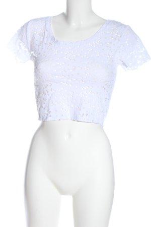 Zara Kurzarm-Bluse weiß Casual-Look