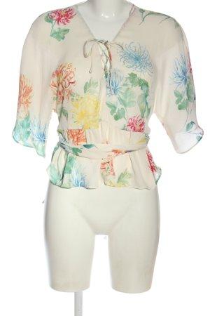 Zara Blouse à manches courtes motif de fleur style décontracté
