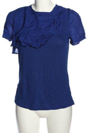Zara Blouse à manches courtes bleu style décontracté