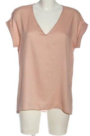 Zara Blouse à manches courtes rose chair-rose imprimé allover