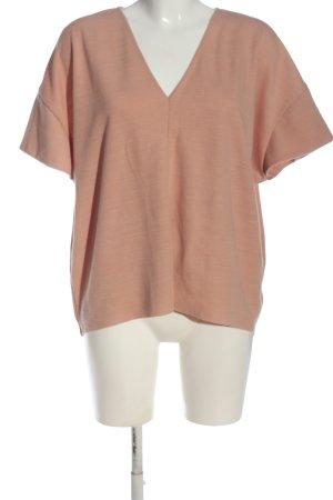 Zara V-Ausschnitt-Shirt pink Casual-Look
