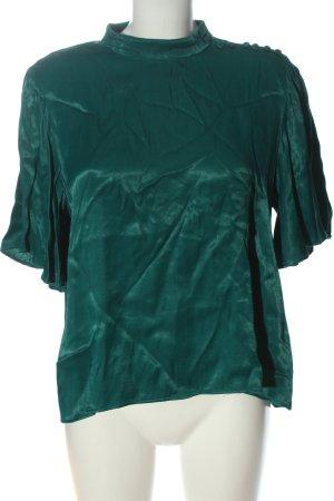 Zara Kurzarm-Bluse grün Casual-Look