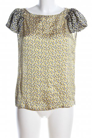 Zara Kurzarm-Bluse abstraktes Muster Business-Look