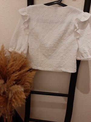 Zara kurzarm Bluse/Shirt gekrinkeltes Muster
