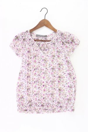 Zara Kurzarmbluse Größe XS weiß aus Polyester