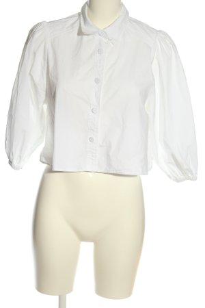 Zara Camisa de manga corta blanco estilo «business»