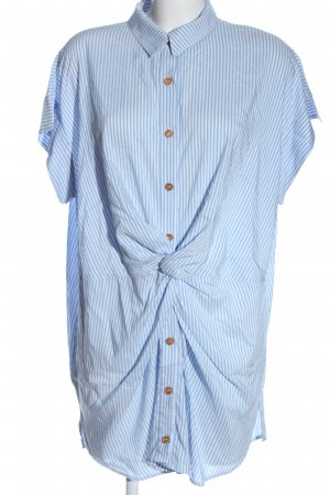 Zara Short Sleeve Shirt blue-white striped pattern casual look