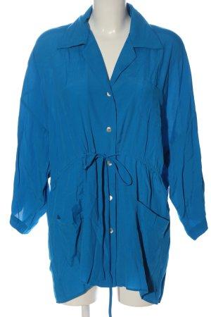 Zara Long-Bluse blau Casual-Look