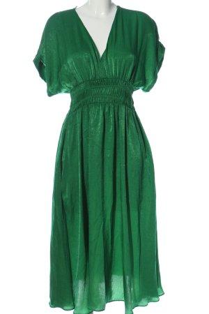 Zara Kurzarmkleid grün Elegant