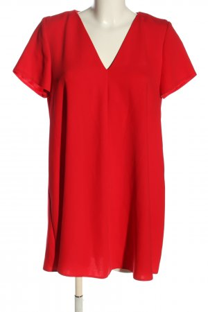 Zara Kurzarmkleid rot Casual-Look