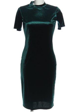 Zara Kurzarmkleid grün Business-Look