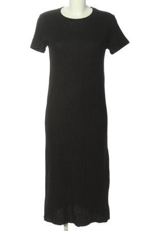 Zara Kurzarmkleid schwarz Streifenmuster Casual-Look