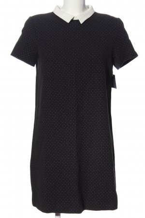 Zara Shortsleeve Dress black-white allover print business style
