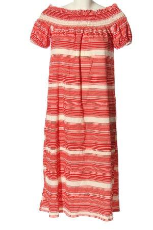 Zara Kurzarmkleid rot-weiß Streifenmuster Casual-Look