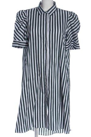 Zara Kurzarmkleid weiß-grün Allover-Druck Casual-Look