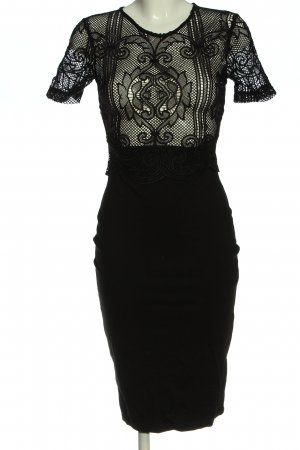 Zara Sukienka z krótkim rękawem czarny Elegancki