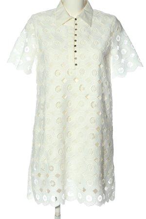Zara Kurzarmkleid wollweiß-creme Elegant