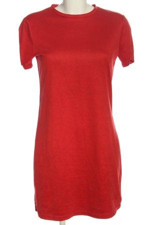 Zara Robe à manches courtes rouge style décontracté