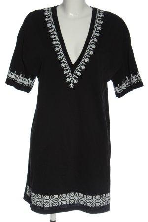 Zara Kurzarmkleid schwarz-weiß Casual-Look