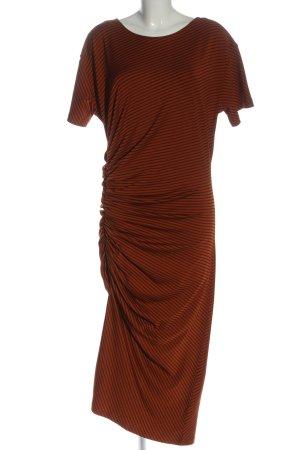 Zara Kurzarmkleid rot-schwarz Streifenmuster Casual-Look